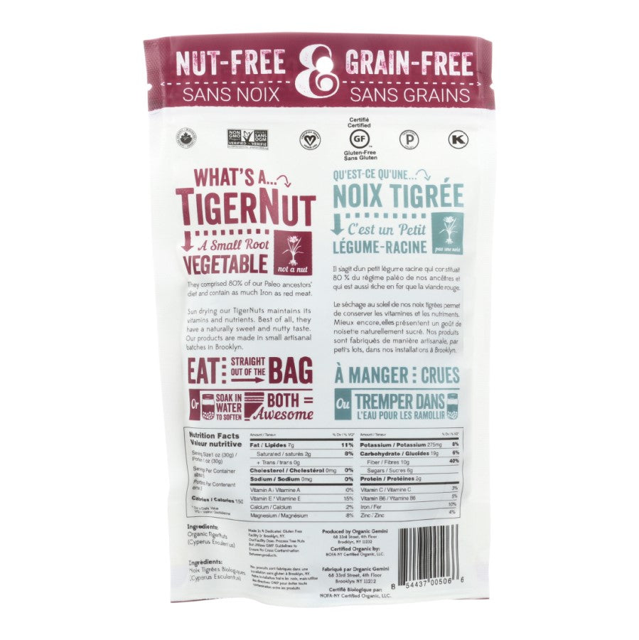 5 Ounce Bag TigerNuts Gemini Superfood Organic Ingredients And Nutrition Facts What Is A Tiger Nut A Small Root Vegetable