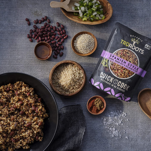 TruRoots Quick Cook Spanish Flavor Style Quinoa Brown Rice Red Bean Blend Made With Healthy Ingredients