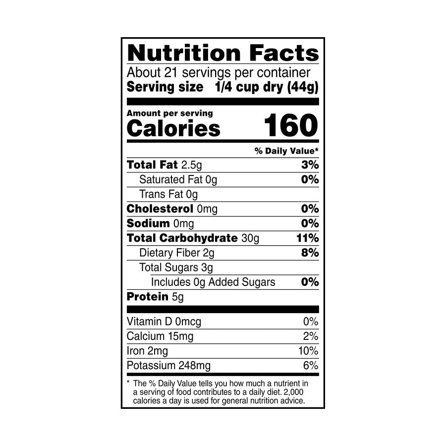 Quinoa Nutrition Facts 32 Oz TruRoots
