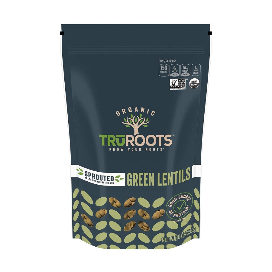 TruRoots Organic Sprouted Green Lentils 10oz