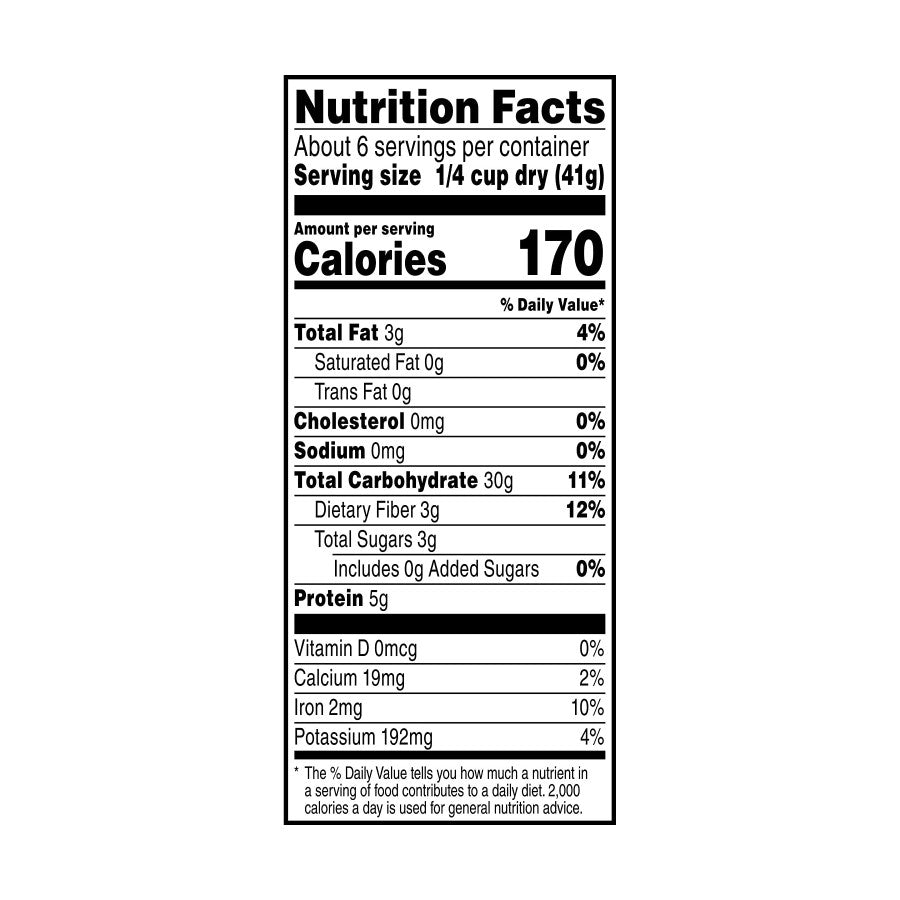 Sprouted Quinoa Blend Nutrition Facts 8 Oz TruRoots
