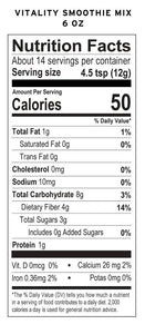 Vitality Maca Powder Smoothie Mix 6 Ounce Nutrition Facts