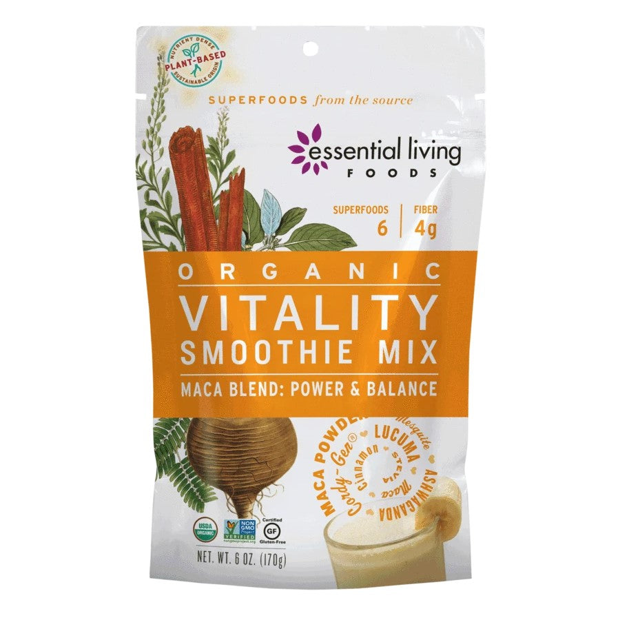 Essential Living Foods Organic Vitality Smoothie Mix 6oz