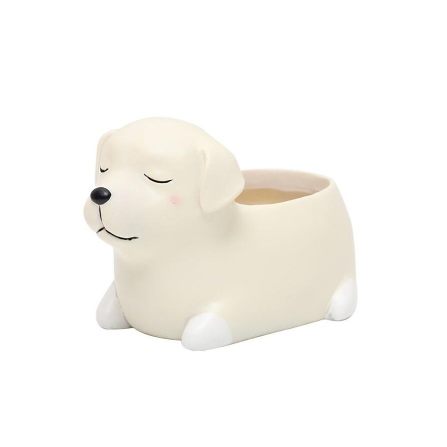 Terra Powders Adorable Animals Mini Planter Pot White Labrador