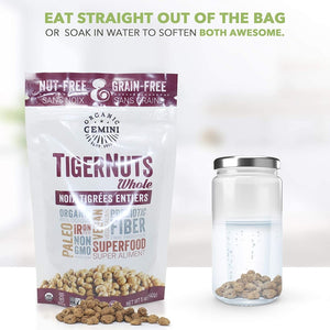 Organic Gemini Nut Free Grain Free Whole TigerNuts Eat Straight Out Of The Bag Or Soak In Water To Soften