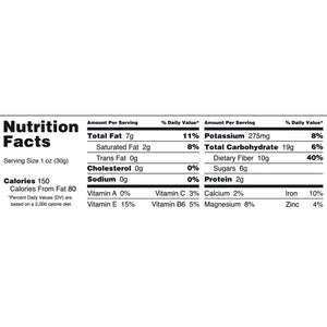 Five Ounce Gemini Organic Superfood TigerNuts Nutrition Facts