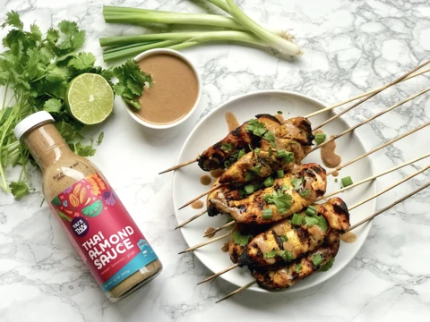 Chicken Satay With Almond Sauce Meal Yais Thai