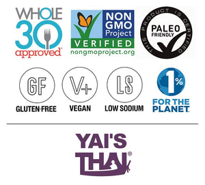 Yai's Thai Sauces Are Whole 30 Approved Non-GMO Paleo Friendly Gluten Free Vegan Low Sodium