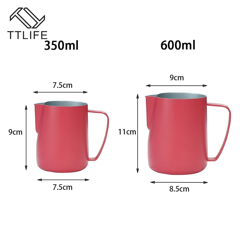 Measurements Of 11oz And 20oz Stainless Steel Chic Milk Frothing Pitchers Dimensions