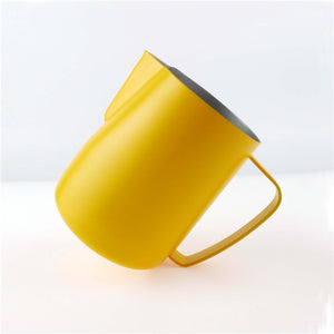Stainless Steel Chic Frothing Pitcher In Matte Yellow Color