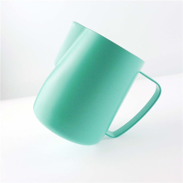 Stainless Steel Chic Frothing Pitcher In Matte Green Color