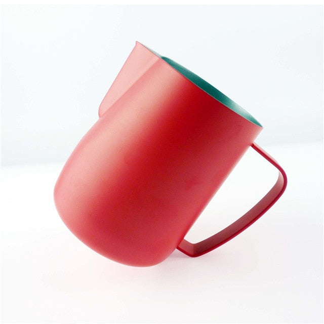Stainless Steel Chic Frothing Pitcher In Matte Red Color