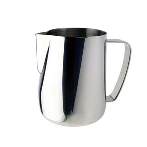 Stainless Steel Chic Frothing Pitcher In Sleek Silver Color