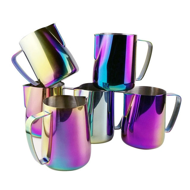 Stainless Steel Chic Frothing Pitcher In Iridescent Color