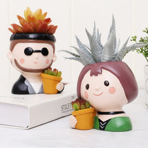 Plant Lover Mini Succulent Pots Cool Dude And Garden Girl