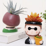 Load image into Gallery viewer, Small Planter Pots For Plant Lovers Cool Dude And Garden Girl