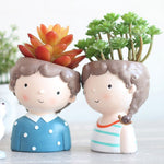 Load image into Gallery viewer, Indoor Pots For Mini Plants Happy People Garden Lovers