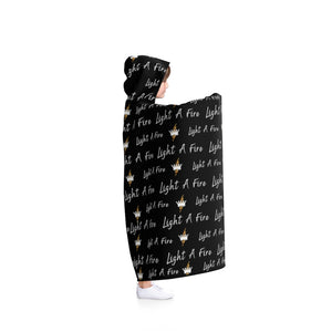 FIRE on the Wall Hooded Blanket