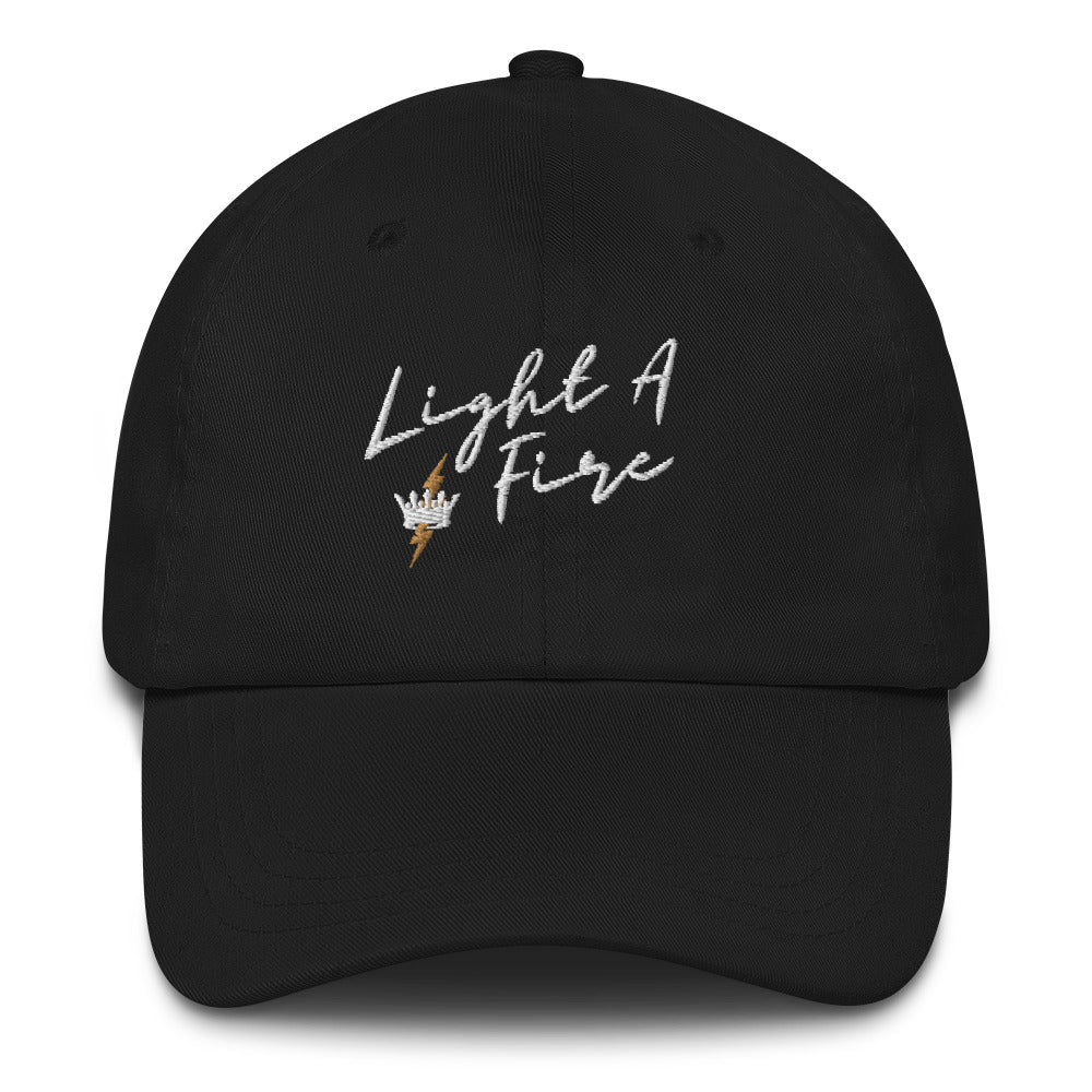 Embroidered LIGHT A FIRE Dad Hat