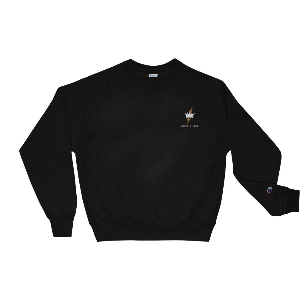 Embroidered LIGHT A FIRE Champion Sweatshirt