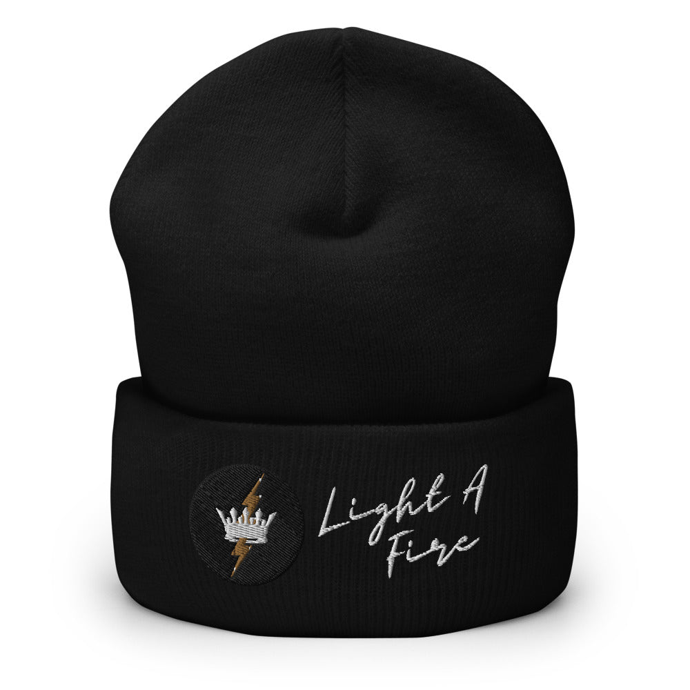 Embroidered LIGHT A FIRE Cuffed Beanie