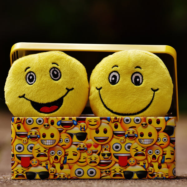 happy emojis, 7 minutes of laughter every day is good for you