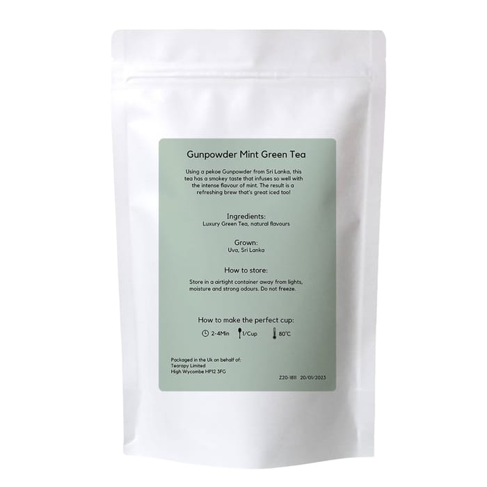 tearapy Gunpowder Mint Green Tea 100g loose leaf tea bag