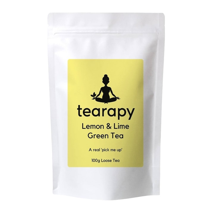 tearapy lemon and lime sencha green tea 100g looase leaf tea