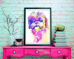 Dog art breeds U-Z