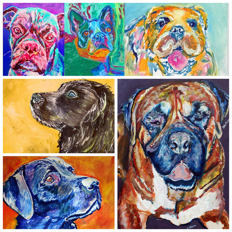 custom paintings dog from photograph