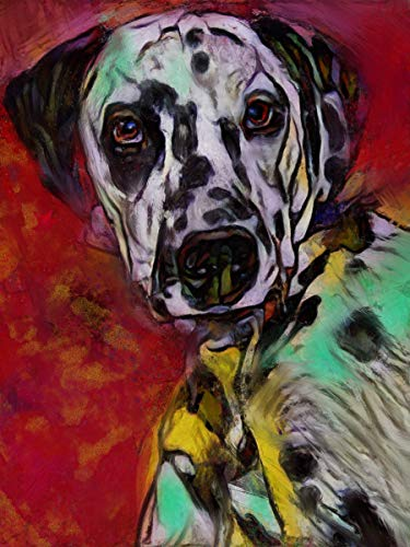 Dalmatian Dog Wall Art Decor, Dog Memorial, Abstract Dog Picture Gift Choice of Sizes Hand Signed by Dog Portrait Artist Oscar Jetson. - Dog portraits by Oscar Jetson