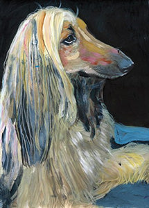 Afghan Hound Wall Art Print, Abstract Colorful Noahs Dog Gift, Afghan Hound Mom, Owner, Tazi Dog, Modern Dog Art, Canine Decor, Colorful Dog Painting Portrait by Oscar Jetson - Dog portraits by Oscar Jetson