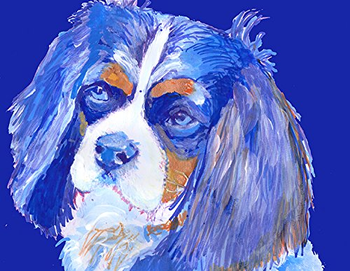 Cavalier King Charles Spaniel Art Print, Cavalier King Charles Spaniel Gifts. Cavalier Bedroom Decor, Abstract Spaniel Art, Spaniel Gifts for Women, Spaniel Mom Painting, Modern Dog Wall Art - Dog portraits by Oscar Jetson