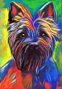 Cairn Terrier Wall Art Print, Colorful Dog Artwork, Dog Owner Gift, Colorful Modern Art, Dog Pastel Art Print, Dog Owner Wall Art - Dog portraits by Oscar Jetson