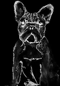 French Bulldog Watercolor Posters Art Prints Wall Decor Artworks Wall Art Dining Room Art Wall Hanging Decor, Frenchie Owner Wall Art, French Bulldog gift, hand signed. - Dog portraits by Oscar Jetson