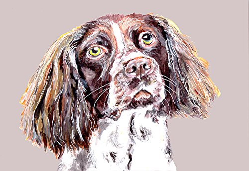 English Springer Spaniel Dog Breed Print, Dog Painting Home Wall Decor, Springer Spaniel Dog Art, Springer Spaniel Owner Gift, Colorful Dog, English Springer Gift signed by Oscar Jetson - Dog portraits by Oscar Jetson