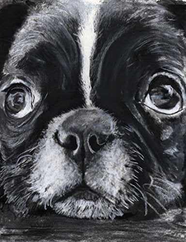 French Bulldog Puppy Wall Art, Black and White French Bulldog Owner Gift, French Bulldog Puppy Artwork, Dog Wall Art Print - Dog portraits by Oscar Jetson