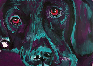 Labrador Wall Art Print, Labrador Memorial, Colorful Lab Art, Lab Retriever Owner Gift, Dog Painting Print Hand Signed By Oscar Jetson Choice Of Sizes 8x10, 11x14, 12x16 - Dog portraits by Oscar Jetson