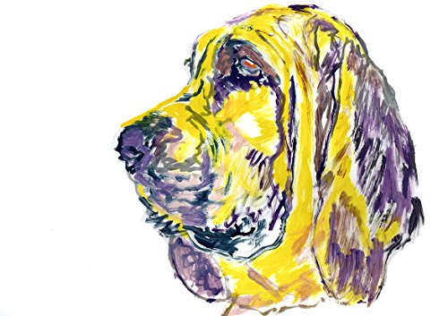 Bloodhound Art Print, Colorful Bloodhound Painting Print, Bloodhound Owner Gift Idea, Bloodhound Dog Art, Bloodhound Mom, Colorful Bloodhound Dog Painting Decor - Dog portraits by Oscar Jetson
