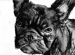 French Bulldog Wall Art, Black and White Frenchie Decort, French Bulldog Owner Gift, Frenchy Dog Artwork, Bull Dog Decor, Art print. - Dog portraits by Oscar Jetson
