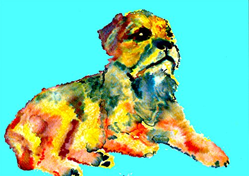 Border Terrier Painting Wall Art Print, Colorful Border Terrier Home Decor, Dog Nursery art,Border Terrier Owner Gift, Dog Wall Art Print, Colorful Dog Painting by Oscar Jetson - Dog portraits by Oscar Jetson
