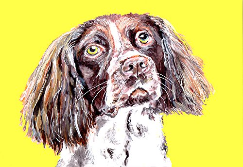 Springer Spaniel Dog Breed Painting Wall Art Print, Springer Spaniel Dog Art, Springer Spaniel Owner Gift, Colorful Dog, English Springer Gift - Dog portraits by Oscar Jetson