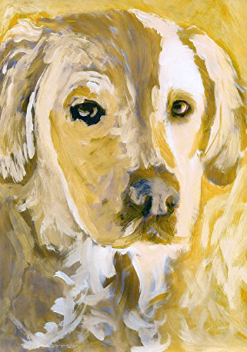 Labrador Wall Art Print , Colorful Abstract Yellow Labrador Wall Hanging Print, Gold Labrador Mom, Lab Dog Artwork, Gift For Labrador Owner, Dog Painting, Lab Art Decor by Oscar Jetson - Dog portraits by Oscar Jetson