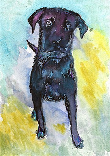Black Labrador Art Print , Colorful Abstract Labrador Wall Art Print, Lab Mom, Lab Dog Artwork, Gift For Labrador Owner, Dog Painting, Lab Art Decor by Oscar Jetson - Dog portraits by Oscar Jetson