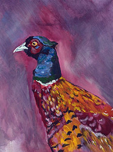 Pheasant Painting Wall Art Print, Colorful Pheasant Bird Art, Pheasant Lover Gift, Animal Nature Wall Art Print, Vibrant Pheasant Gift Wall Decor - Dog portraits by Oscar Jetson
