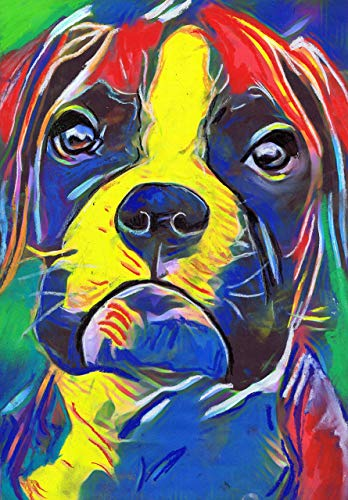 Colorful Boxer Dog Wall Art Print, Boxer Dog Gift, Boxer Dog Art, Dog Wall Art Print, Boxer Dog Decor - Dog portraits by Oscar Jetson