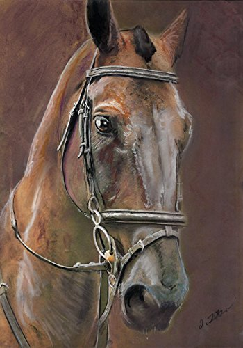 Horse Wall Art Print, Horse Owner Gifts, Chestnut Horse Pastel Painting Wall Art Print, Equestrian Artwork, Horse Gift for her, Horse Rider Gift, Hand Signed by Oscar Jetson - Dog portraits by Oscar Jetson