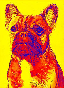 French Bulldog Wall Art Print, Frenchie Owner Gift, Frenchie Artwork, Colorful French Bulldog Painting Decor Choice of Sizes Hand Signed by Artist Oscar Jetson. - Dog portraits by Oscar Jetson
