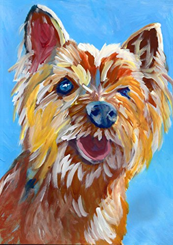 Cairn Terrier Painting, Colorful Pop Art Dog Wall Art Print, Cairn Dog Owner Gift, Pet Art Print, Colorful Cairn Terrier Dog Painting Decor by Oscar Jetson - Dog portraits by Oscar Jetson