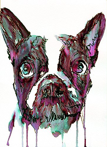 Abstract Ink French Bulldog Wall Art, Expressive French BulldogGift, French Bulldog Owner, French Bulldog Artwork, Bulldog Wall Art Print, Frenchie Decor - Dog portraits by Oscar Jetson